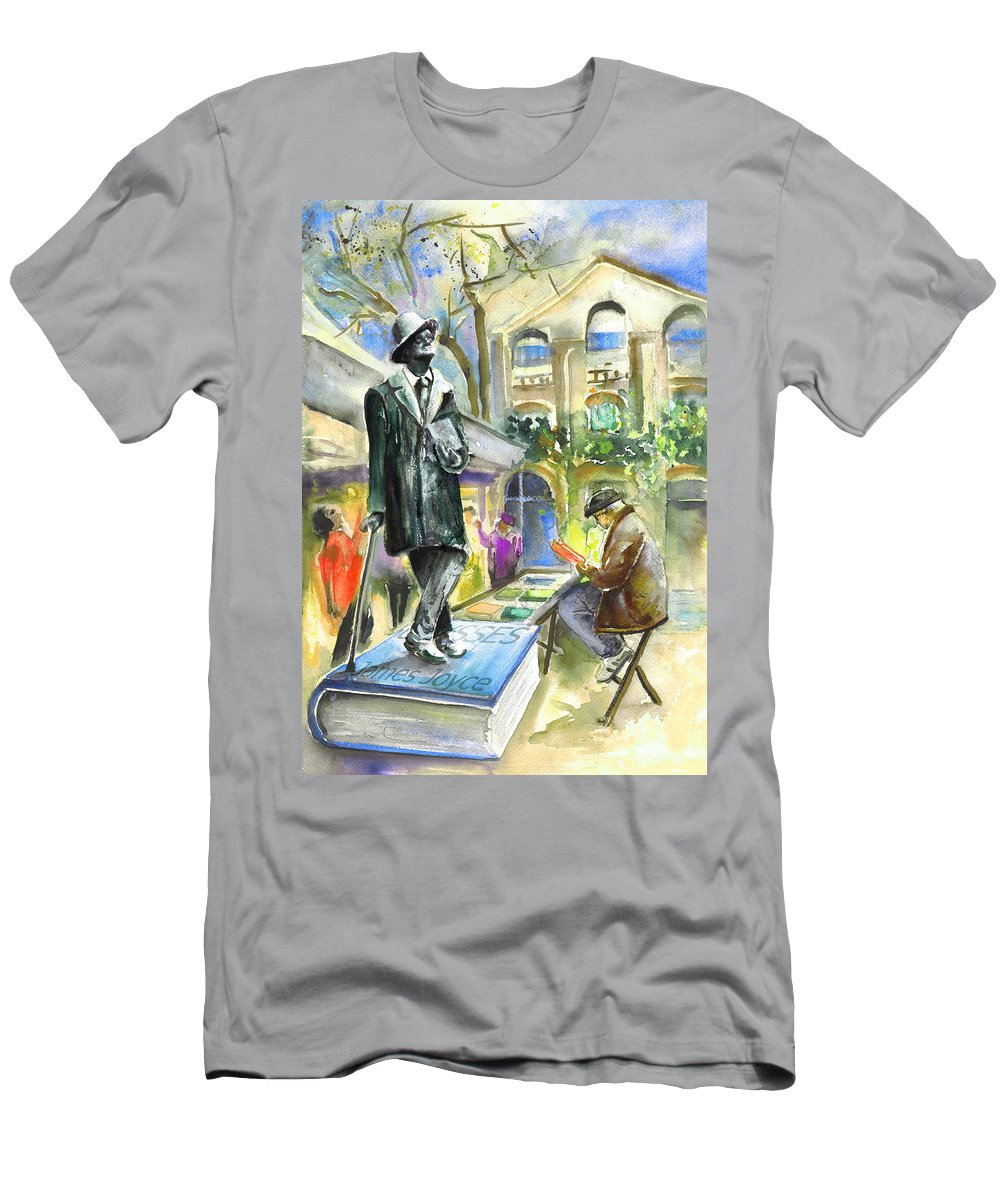 Travel Men's T-Shirt (Athletic Fit) featuring the painting James Joyce by Miki De Goodaboom
