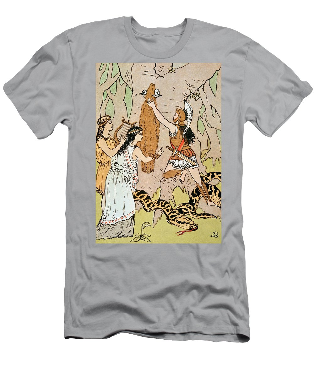Jason Seizing The Golden Fleece Men's T-Shirt (Athletic Fit) featuring the drawing Jason Seizing The Golden Fleece by English School