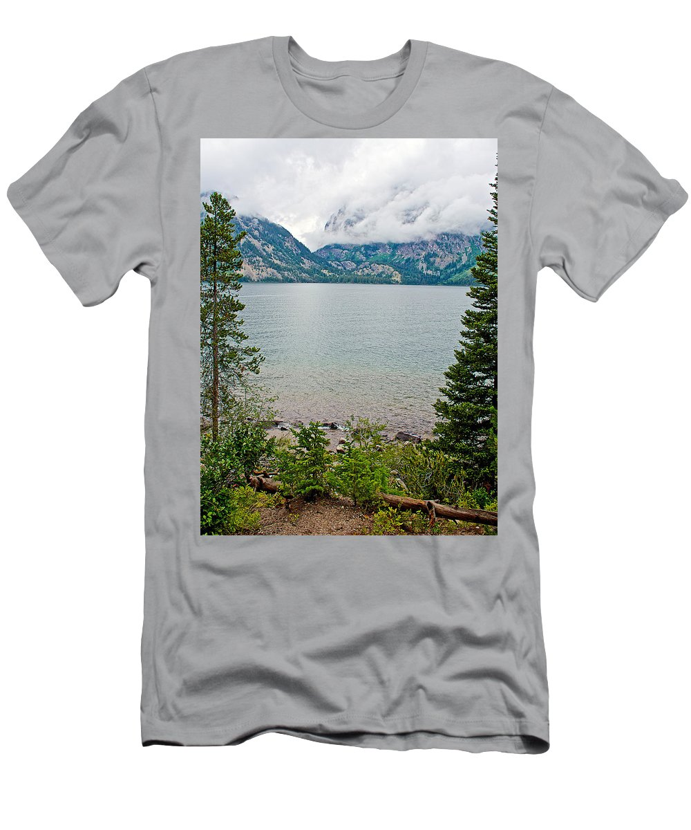 Jenny Lake In Grand Teton National Park Men's T-Shirt (Athletic Fit) featuring the photograph Jenny Lake In Grand Tetons National Park-wyoming by Ruth Hager