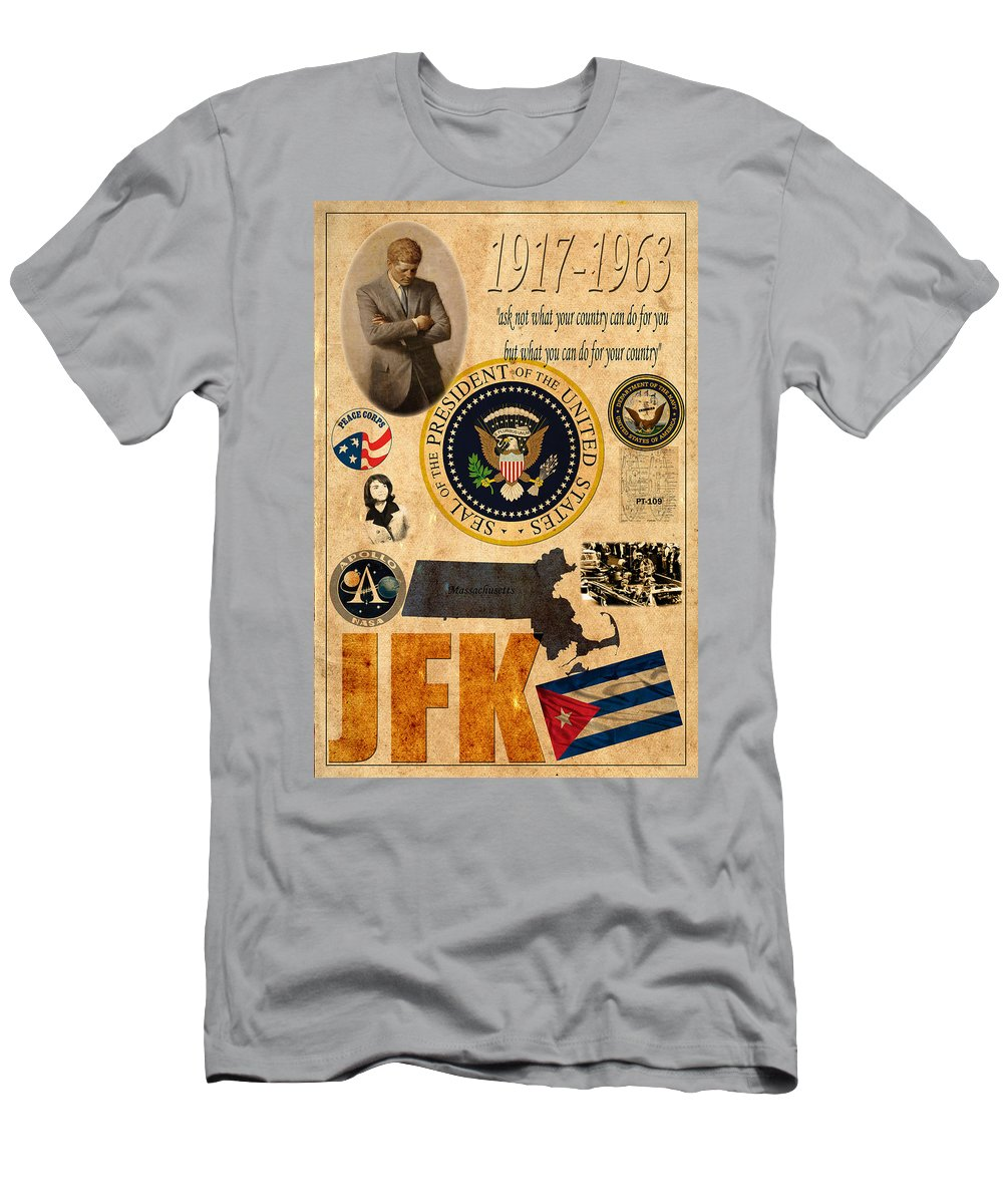 Jfk Men's T-Shirt (Athletic Fit) featuring the photograph JFK by Andrew Fare