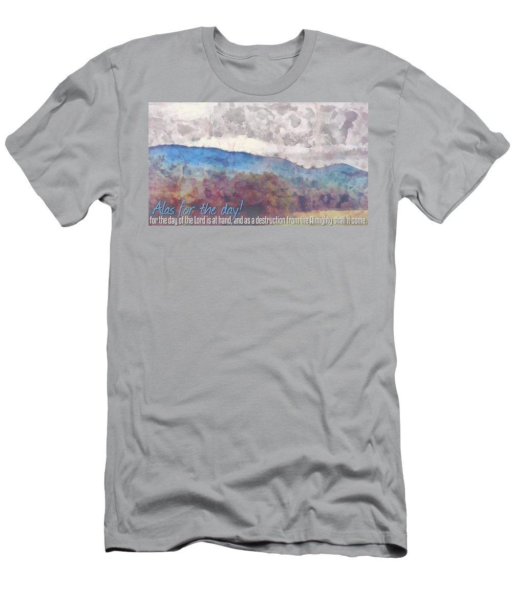 Jesus Men's T-Shirt (Athletic Fit) featuring the digital art Joel 1 15 by Michelle Greene Wheeler