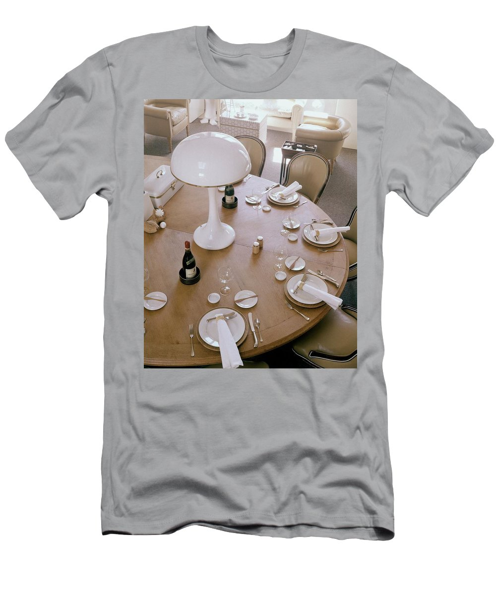 Home T-Shirt featuring the photograph John Dickinson's Dining Table by Fred Lyon