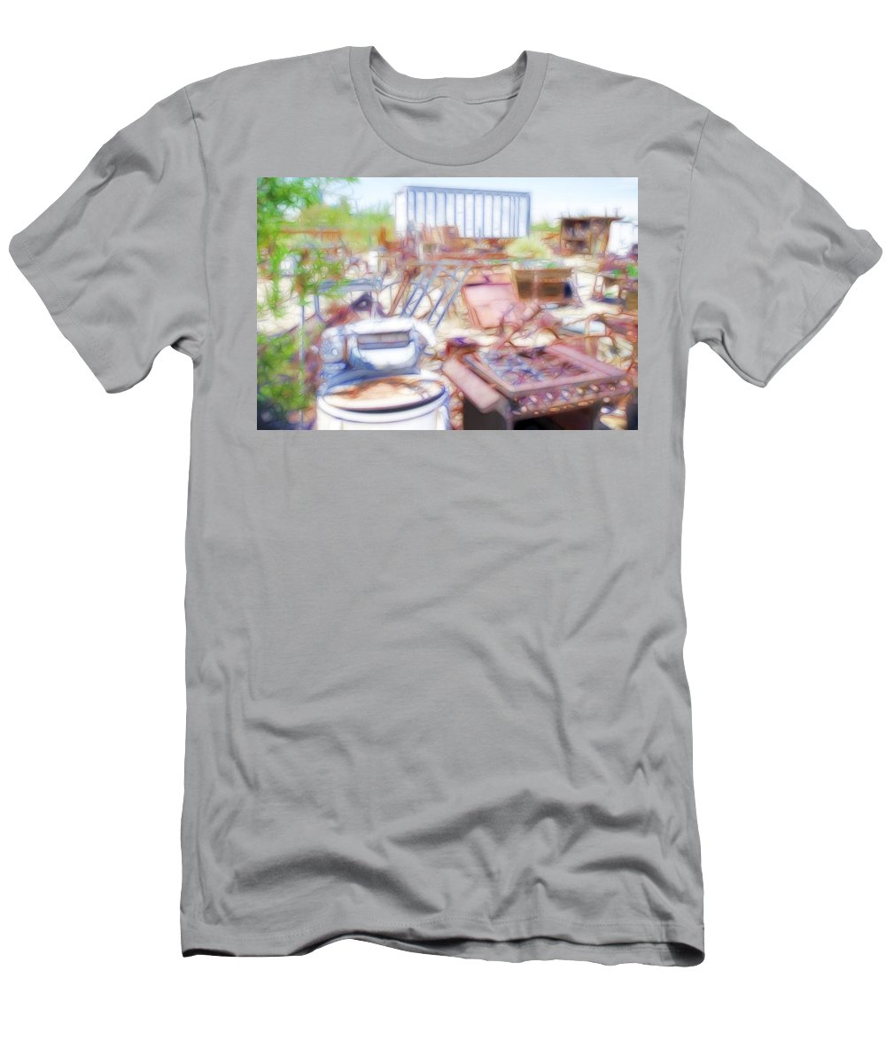 Inyo Men's T-Shirt (Athletic Fit) featuring the photograph Junkyard by Hugh Smith