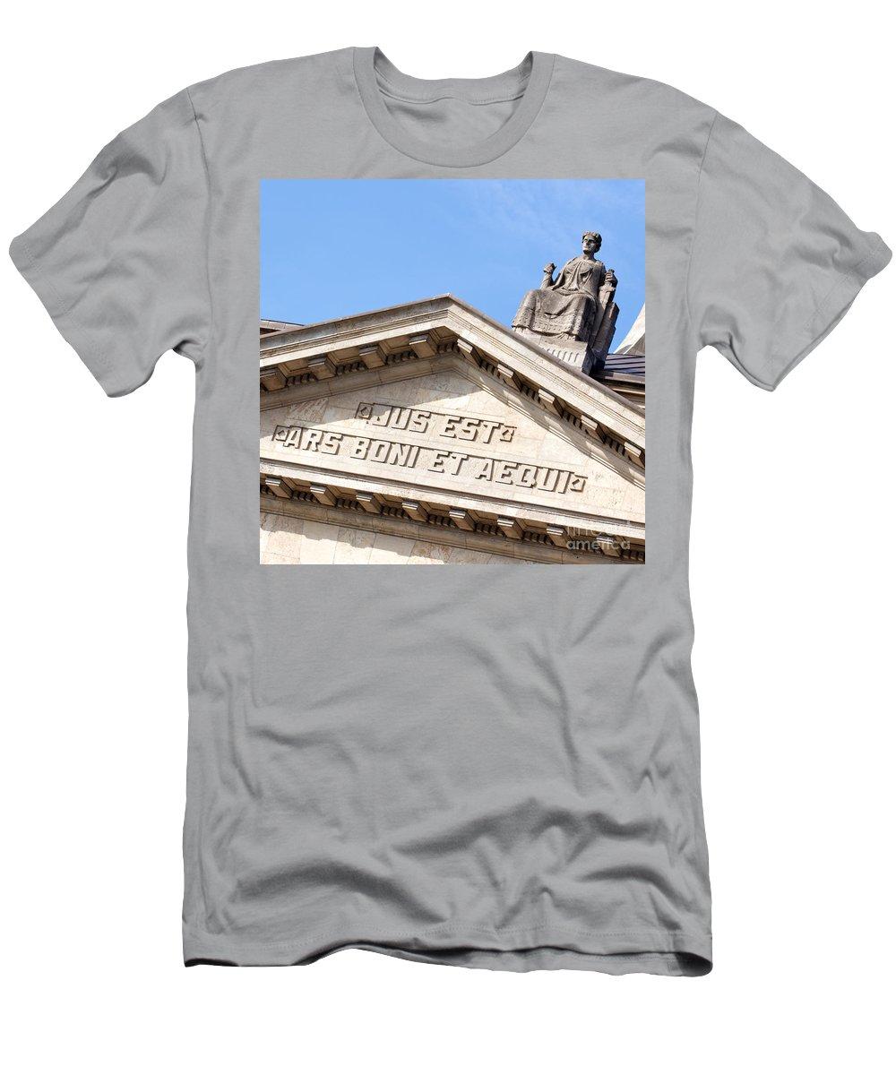 Aequi Men's T-Shirt (Athletic Fit) featuring the photograph Jus Est Ars Boni Et Aequi by Jannis Werner