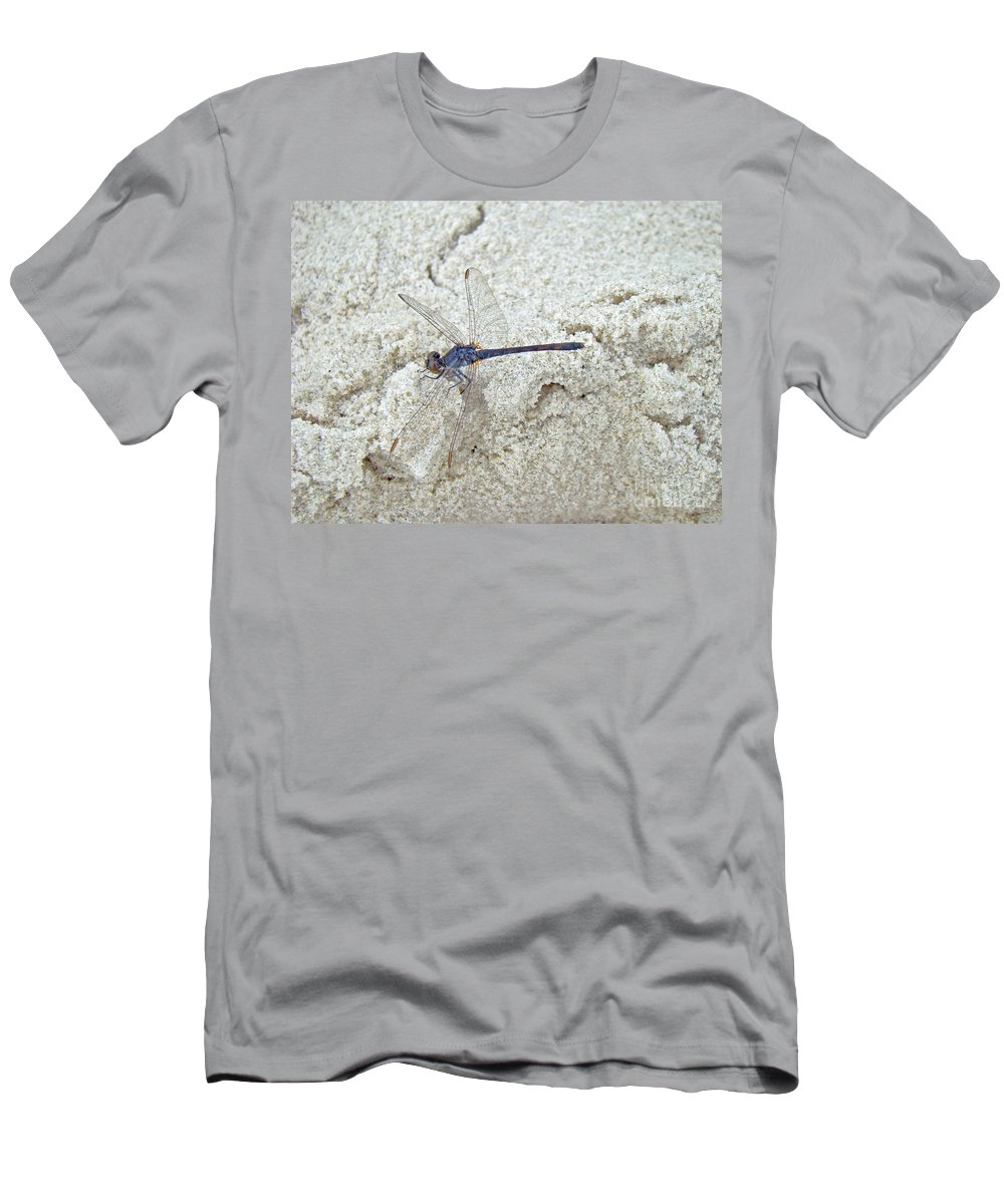 Dragonfly Men's T-Shirt (Athletic Fit) featuring the photograph Just Another Day At The Beach by Mother Nature