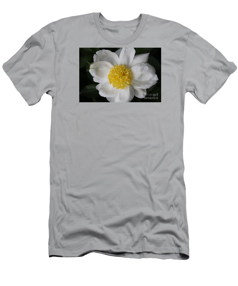 Peony Men's T-Shirt (Athletic Fit) featuring the photograph Just White by Christiane Schulze Art And Photography