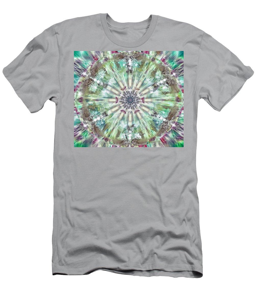 Kaleidoscope Men's T-Shirt (Athletic Fit) featuring the digital art Kaleidoscope by Savannah Gibbs
