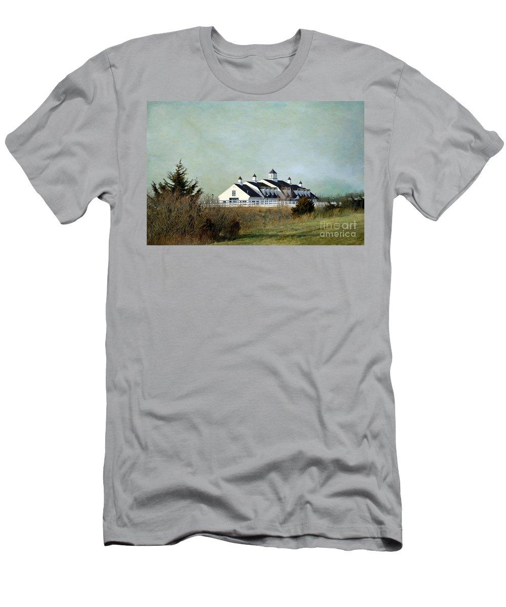 Kansas Landscape Men's T-Shirt (Athletic Fit) featuring the photograph Kansas Landscape by Liane Wright