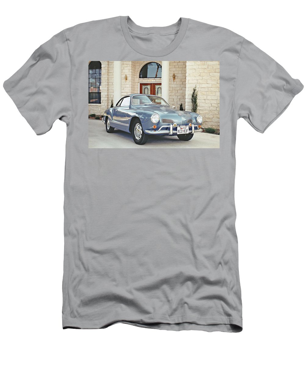 Sixties Cars Men's T-Shirt (Athletic Fit) featuring the photograph Karmann Ghia Coupe by Jim Smith