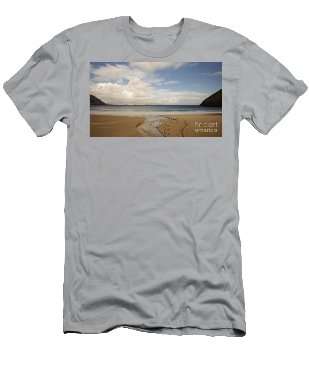 Achill Men's T-Shirt (Athletic Fit) featuring the photograph Keem Strand On Achill Island, Ireland by John Shaw