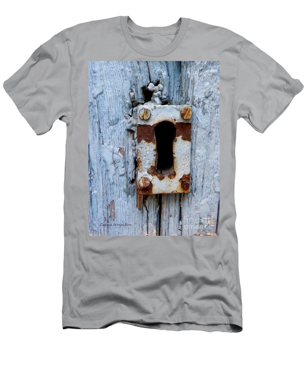 Keyhole Men's T-Shirt (Athletic Fit) featuring the photograph Keyhole by Lainie Wrightson
