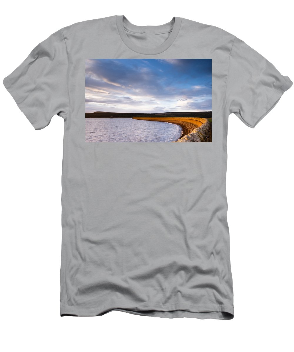 Northumberland Men's T-Shirt (Athletic Fit) featuring the photograph Kielder Dam by David Head