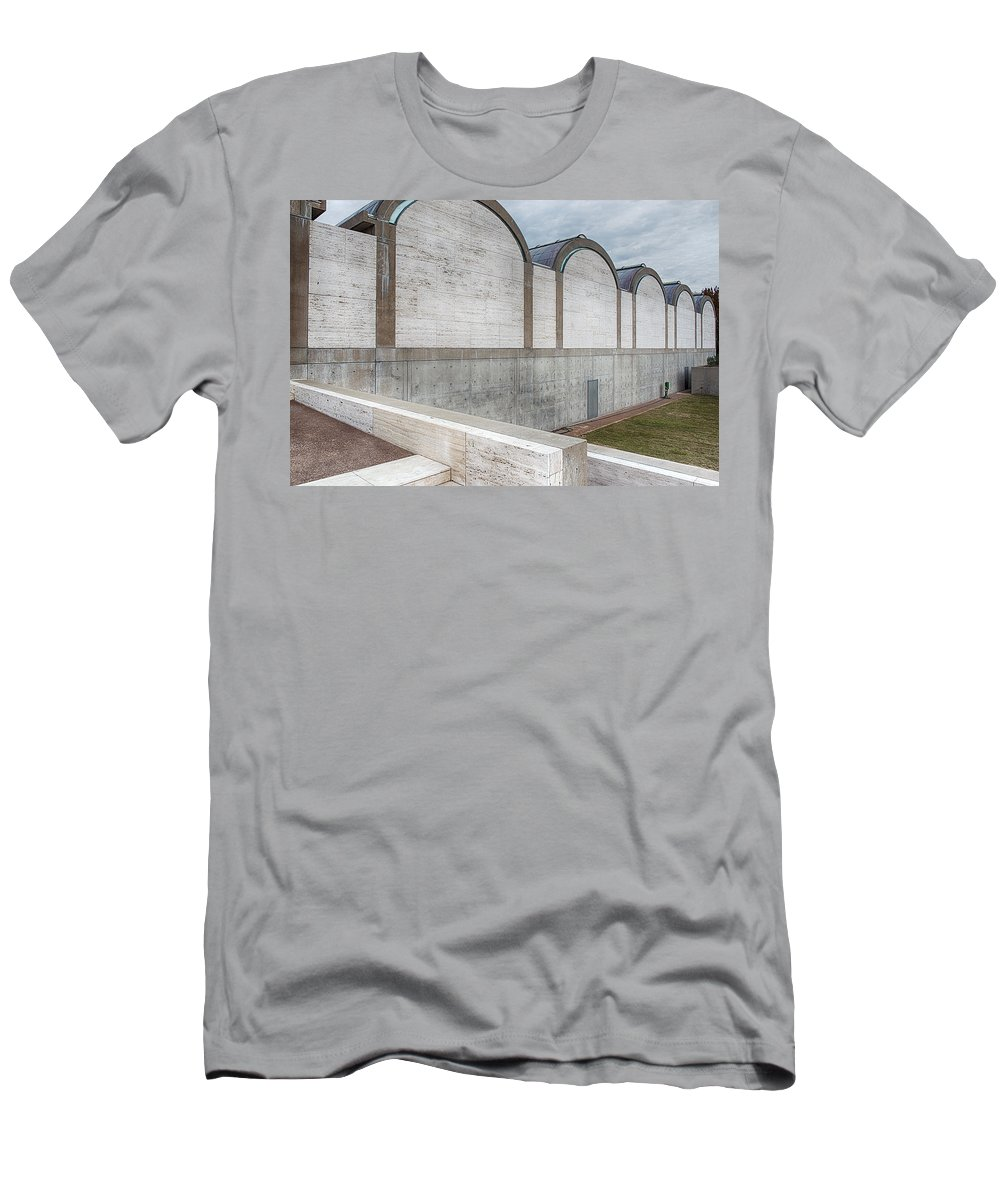 Kimbell Art Museum Men's T-Shirt (Athletic Fit) featuring the photograph Kimbell Art Museum Fort Worth 3 by Rospotte Photography