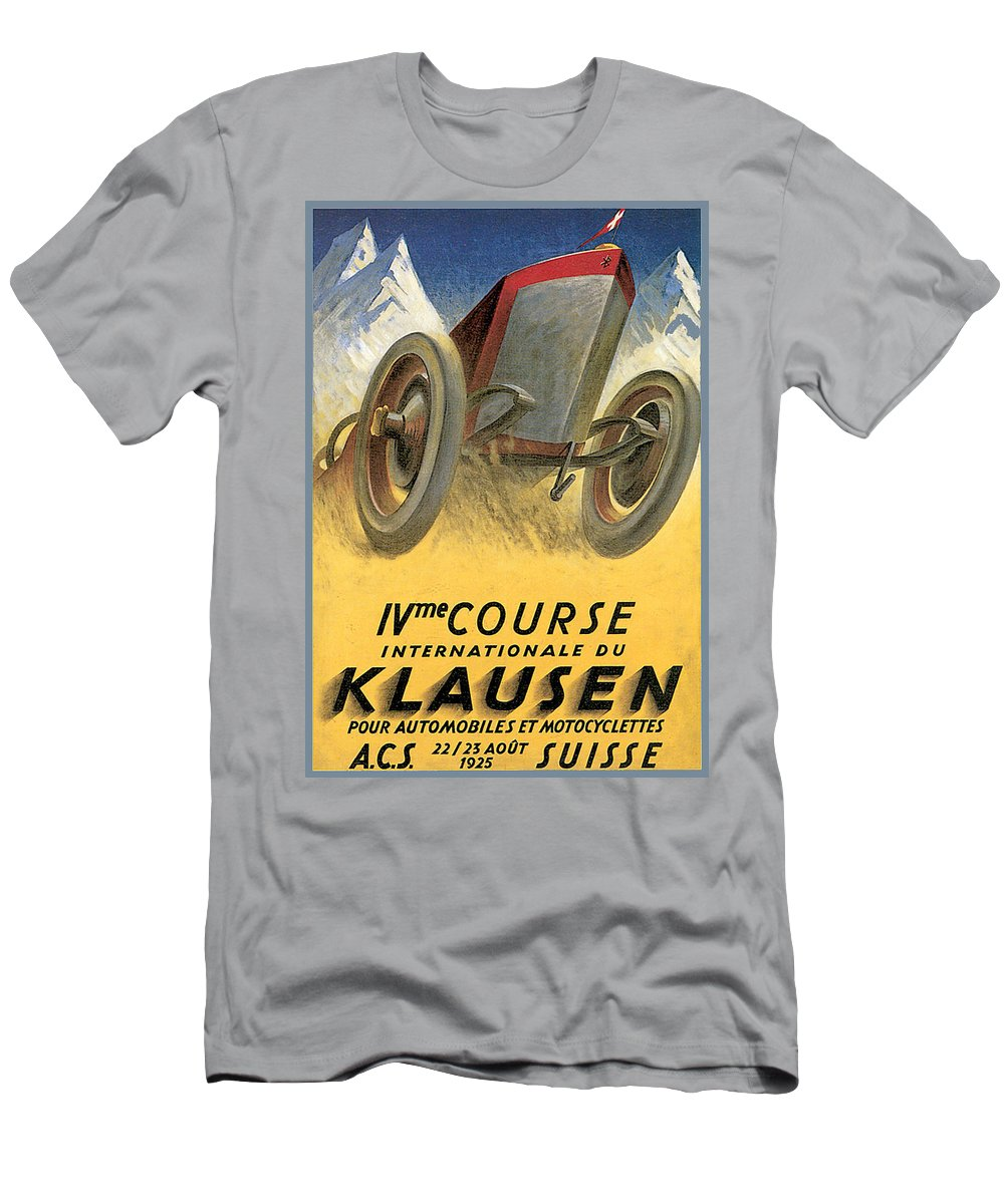 Vintage Automobile Ads And Posters Men's T-Shirt (Athletic Fit) featuring the photograph Klausen Automobile by Vintage Automobile Ads and Posters