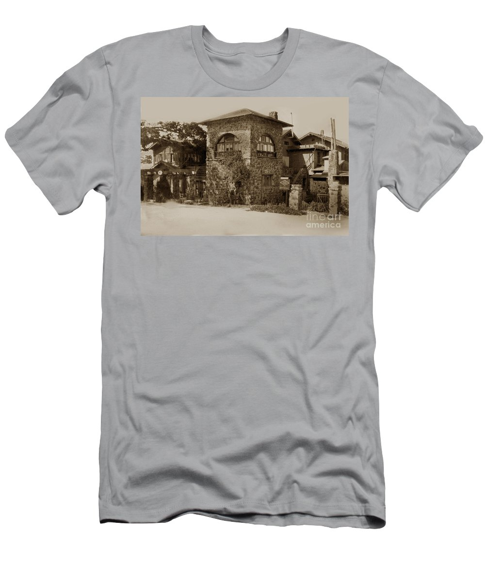 Originally Men's T-Shirt (Athletic Fit) featuring the photograph La Playa Carmel And Located At Camino Real At Eighth Ave. Circa 1925 by California Views Archives Mr Pat Hathaway Archives