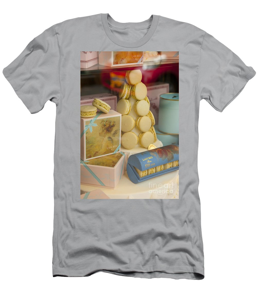 Bakery Men's T-Shirt (Athletic Fit) featuring the photograph Laduree Macarons by Brian Jannsen