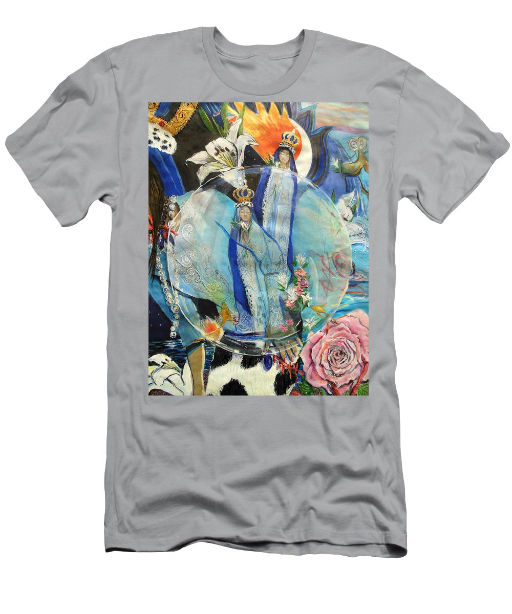 Lady Madonna Men's T-Shirt (Athletic Fit) featuring the painting Lady Madonna by Lucia Hoogervorst