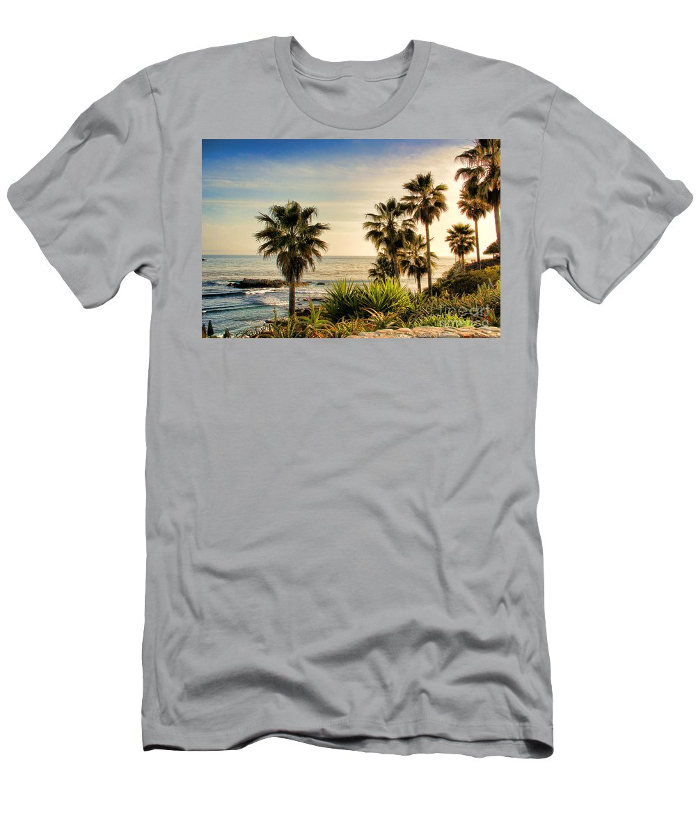 Looking Out Over Laguna Beach Men's T-Shirt (Athletic Fit) featuring the photograph Laguna Beach by Mariola Bitner