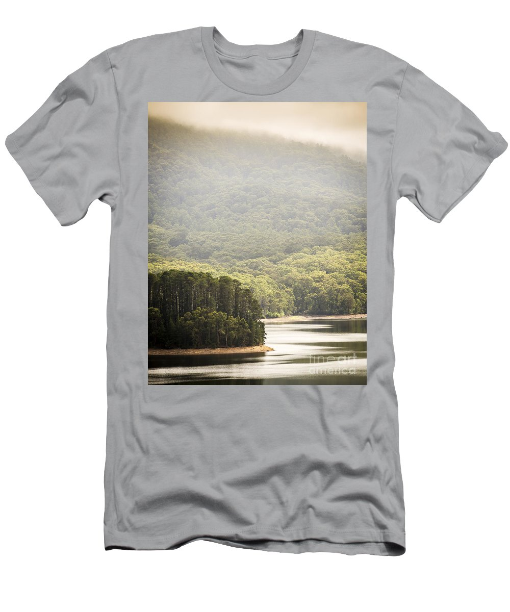 Lake Men's T-Shirt (Athletic Fit) featuring the photograph Lake Forest by Tim Hester
