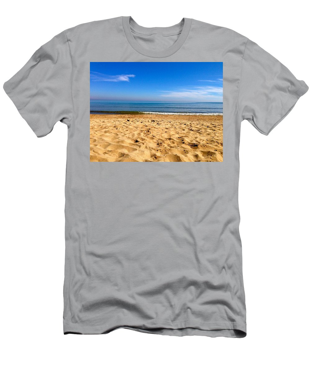 Lake Michigan Men's T-Shirt (Athletic Fit) featuring the photograph Lake Michigan by Tiffany Erdman