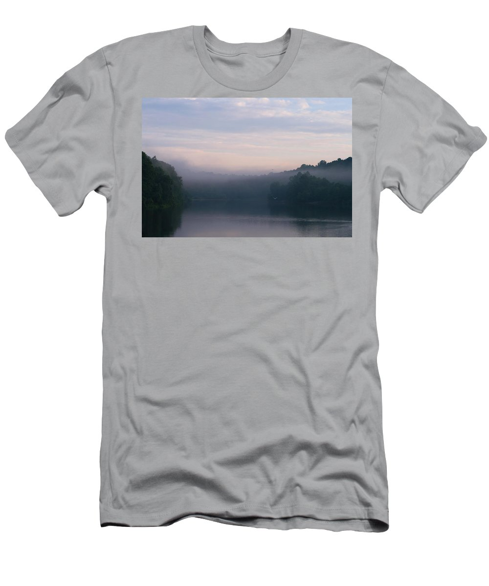 Lake Mohegan Men's T-Shirt (Athletic Fit) featuring the photograph Lake Mohegan by Stephanie McDowell