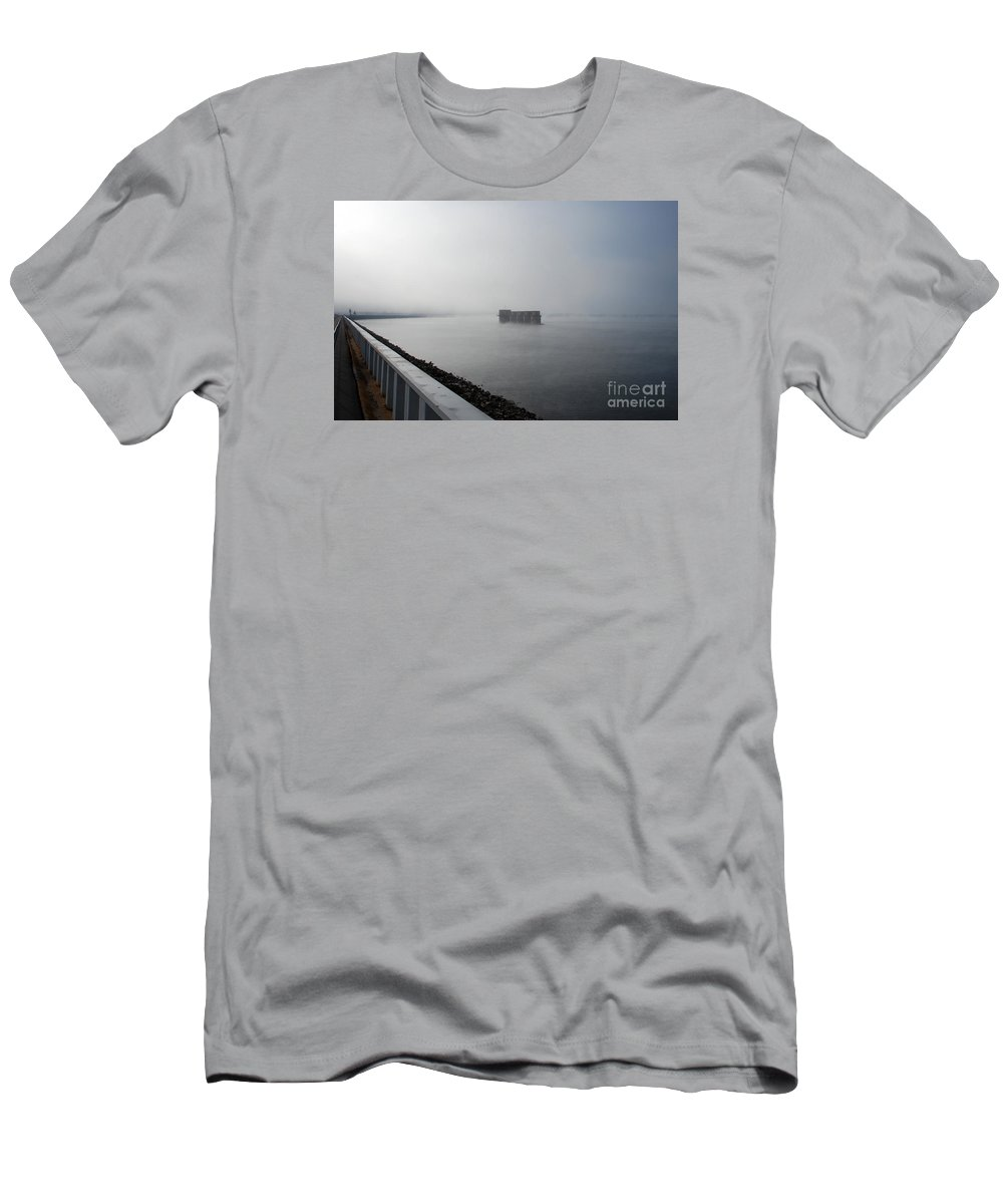 Scenic Tours Men's T-Shirt (Athletic Fit) featuring the photograph Lake Murray Dam Sc by Skip Willits
