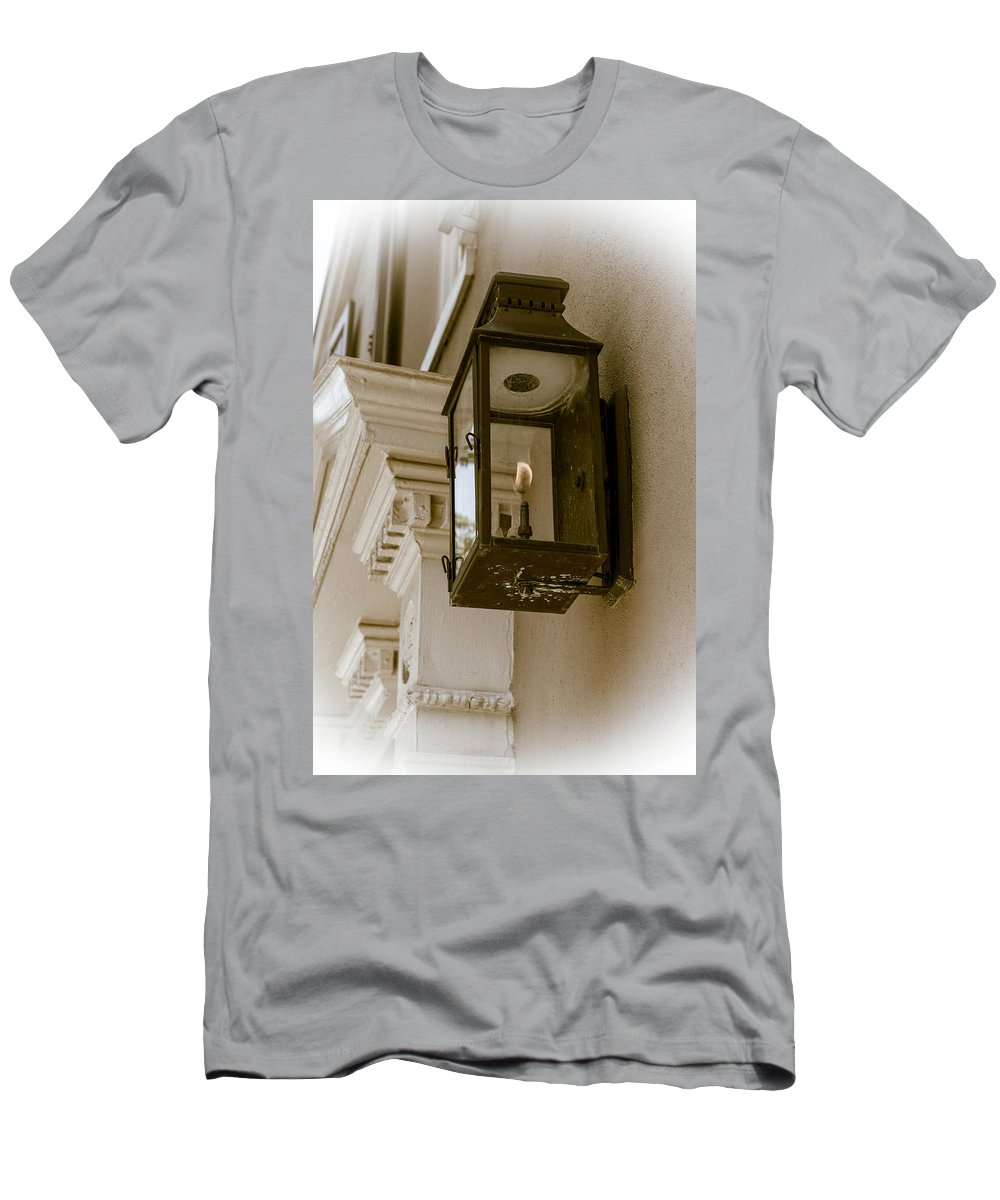 Historical Men's T-Shirt (Athletic Fit) featuring the photograph Lamp Unto My Feet by Sennie Pierson