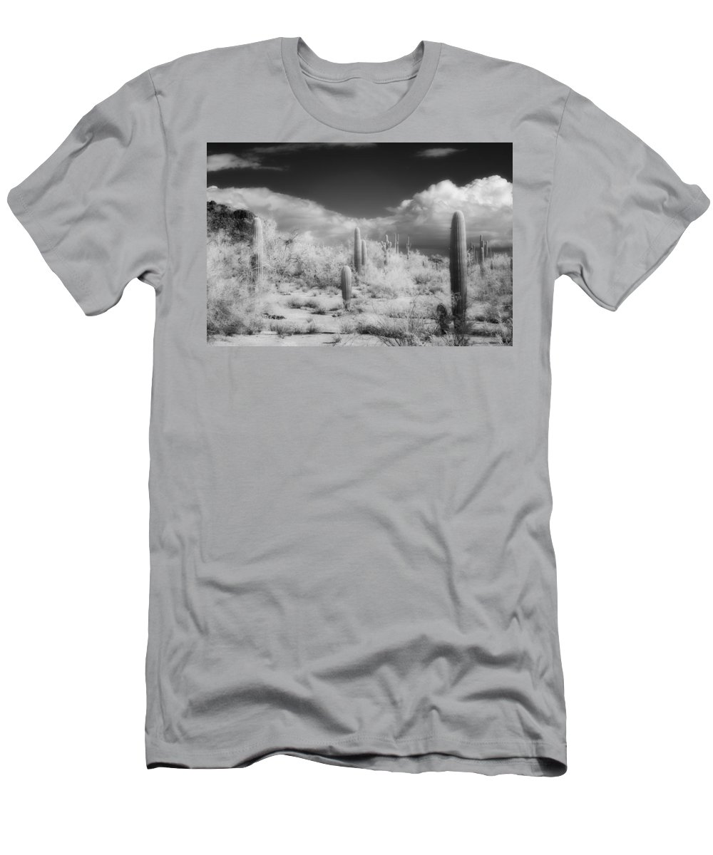 Saquaro Men's T-Shirt (Athletic Fit) featuring the photograph Land Of The River People by Hugh Smith