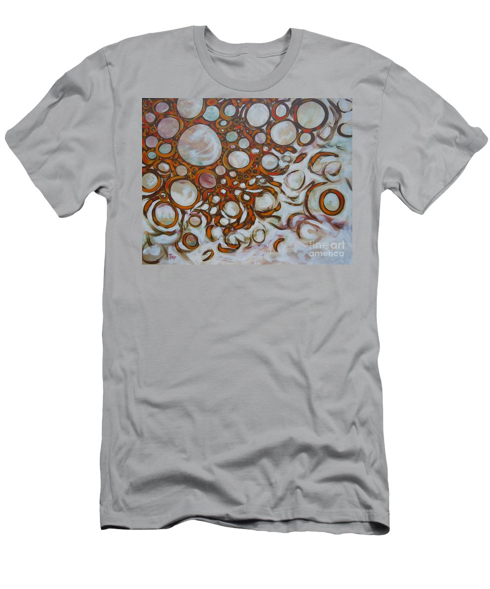 Energy Men's T-Shirt (Athletic Fit) featuring the painting Lava Lamp Studio No.2 by Tonya Henderson