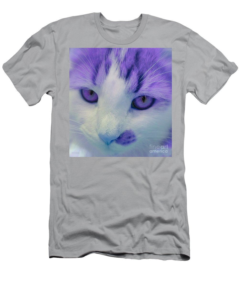 Color Men's T-Shirt (Athletic Fit) featuring the photograph Lavender Kitten by Anita Lewis