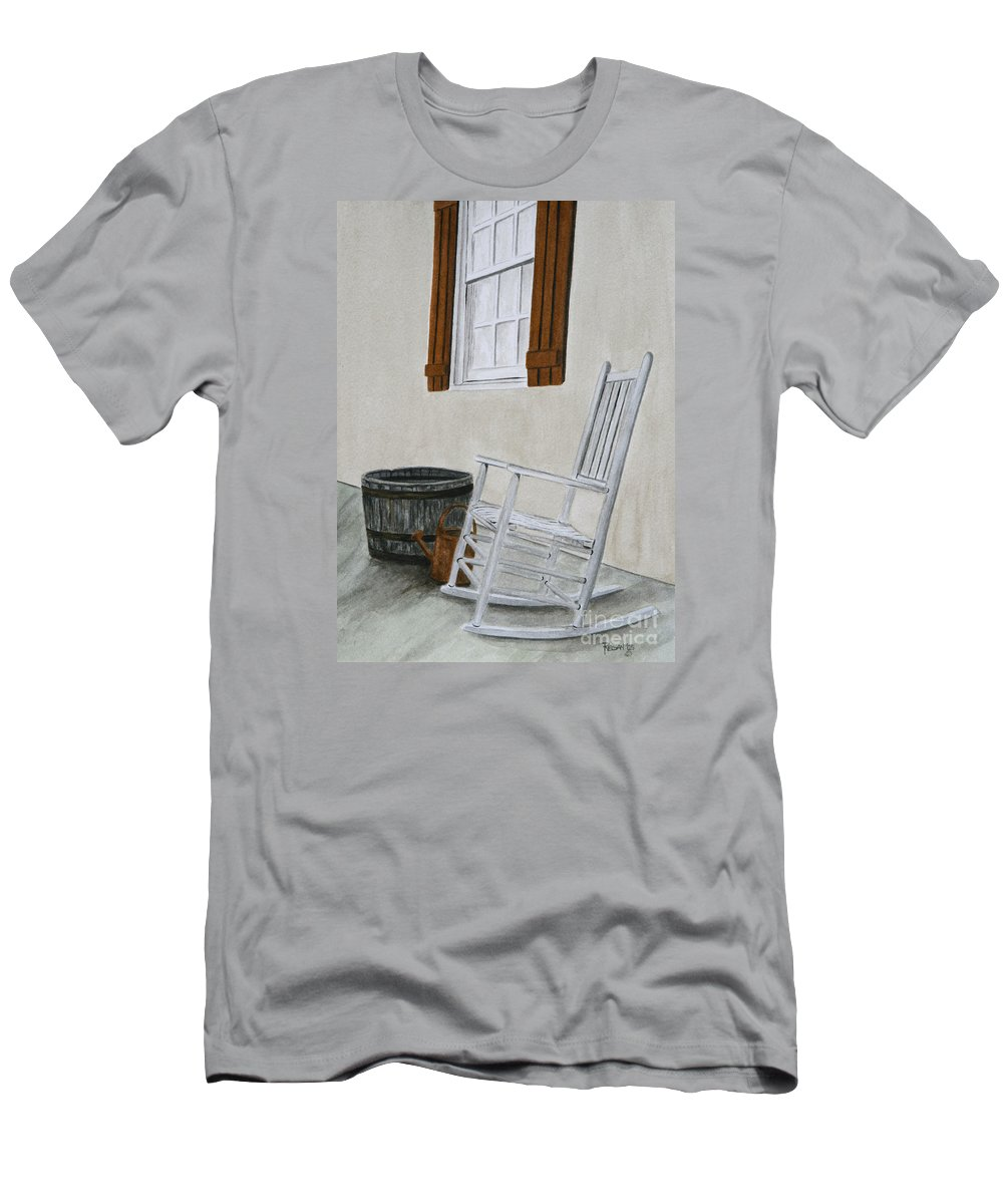 Americana Men's T-Shirt (Athletic Fit) featuring the painting Lazy Day by Regan J Smith