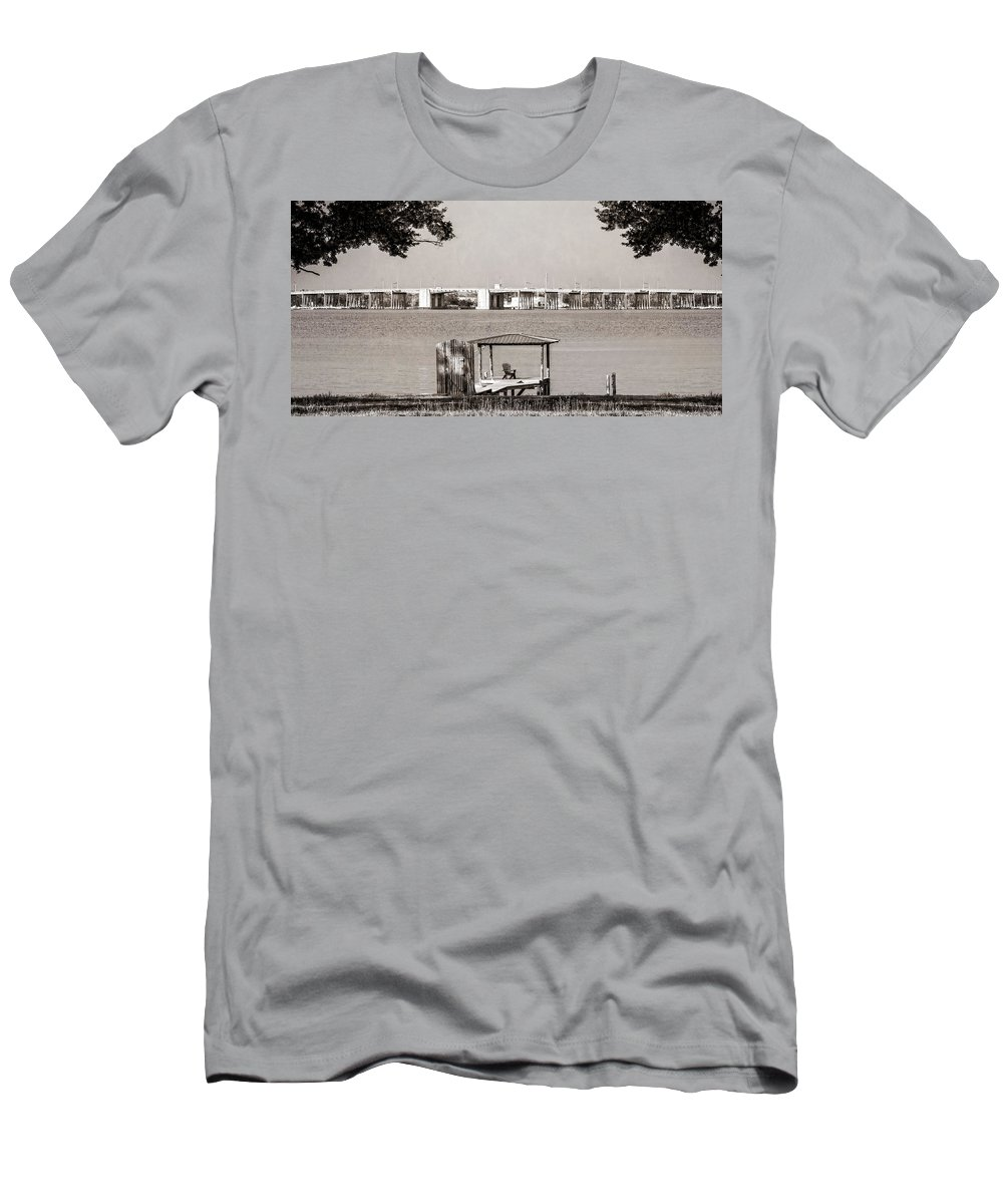 Lazy Days Men's T-Shirt (Athletic Fit) featuring the photograph Lazy Days by Sennie Pierson