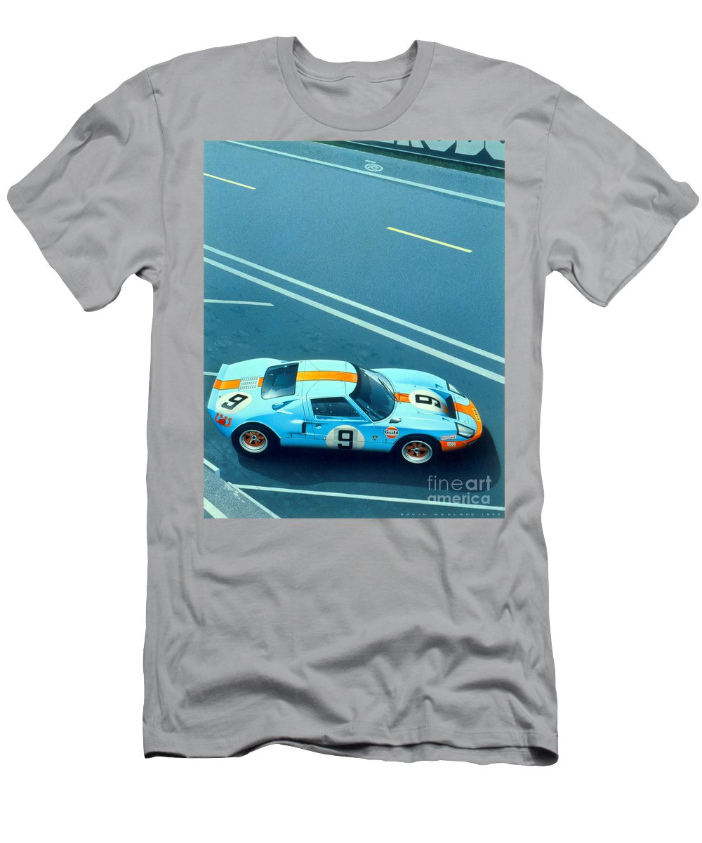 Le Mans Men's T-Shirt (Athletic Fit) featuring the digital art Le Mans 68 by MGL Meiklejohn Graphics Licensing