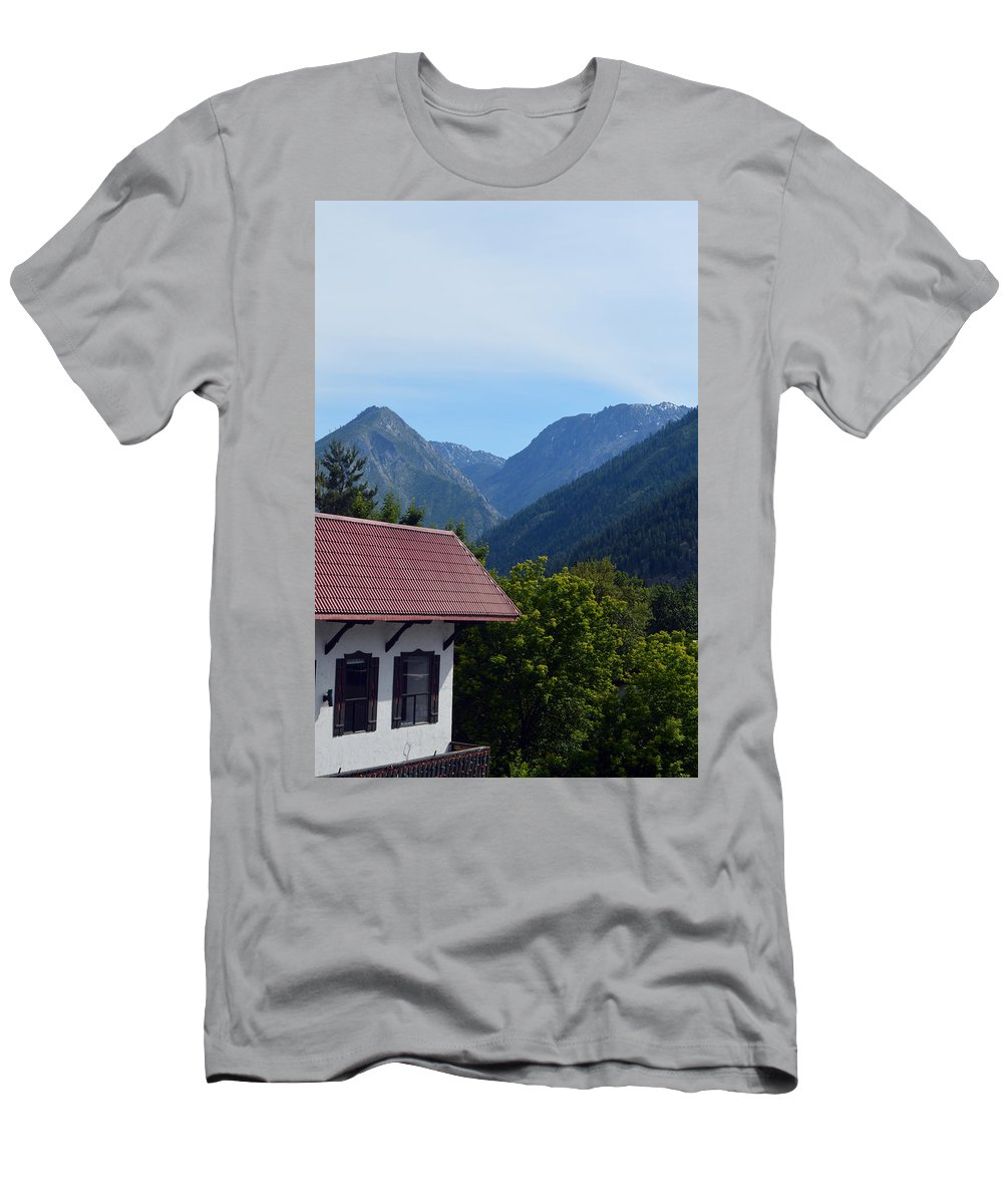 Leavenworth Men's T-Shirt (Athletic Fit) featuring the photograph Leavenworth by Carol Eliassen