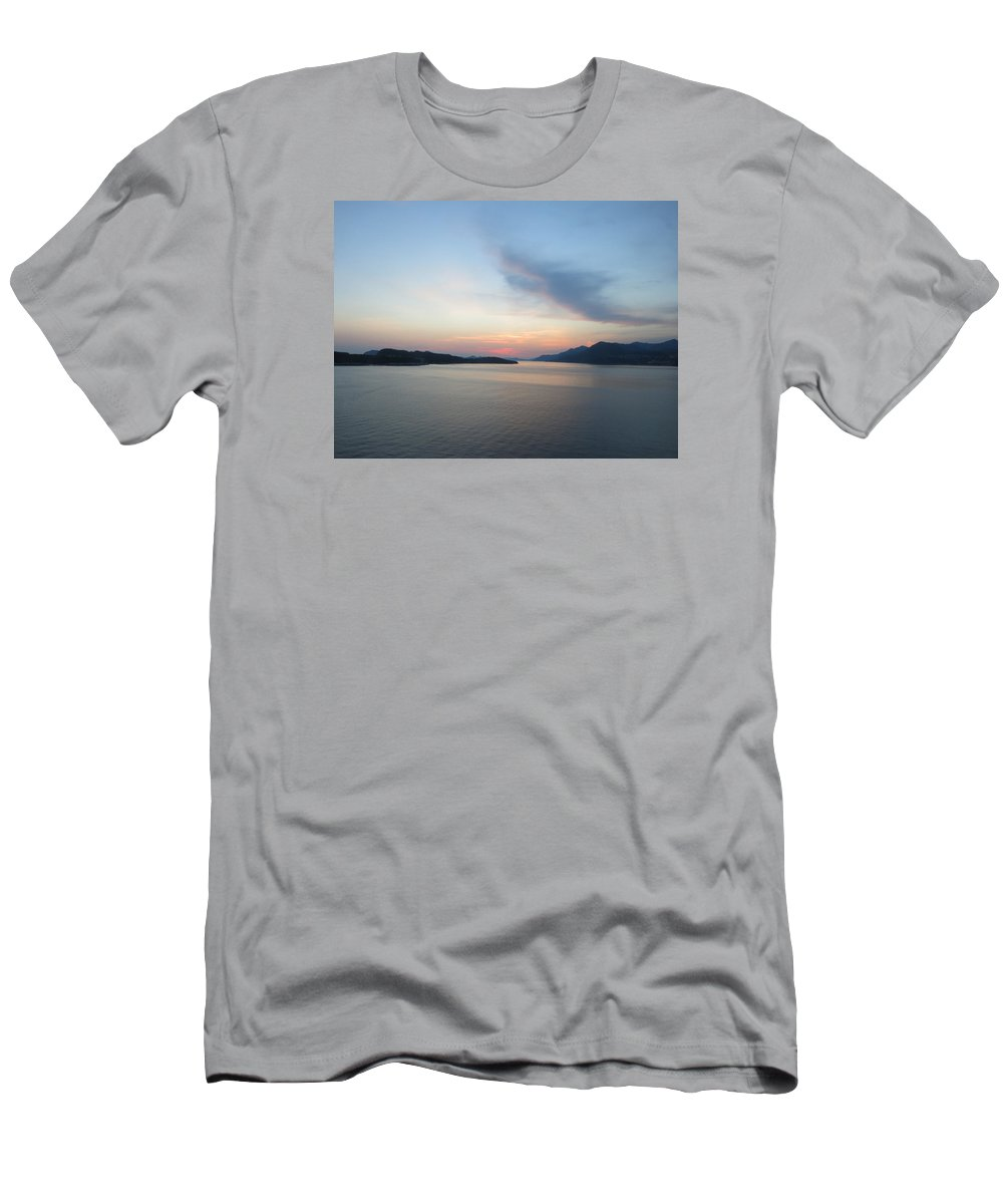 Sunset T-Shirt featuring the photograph Leaving Port at Sunset by Jean Macaluso