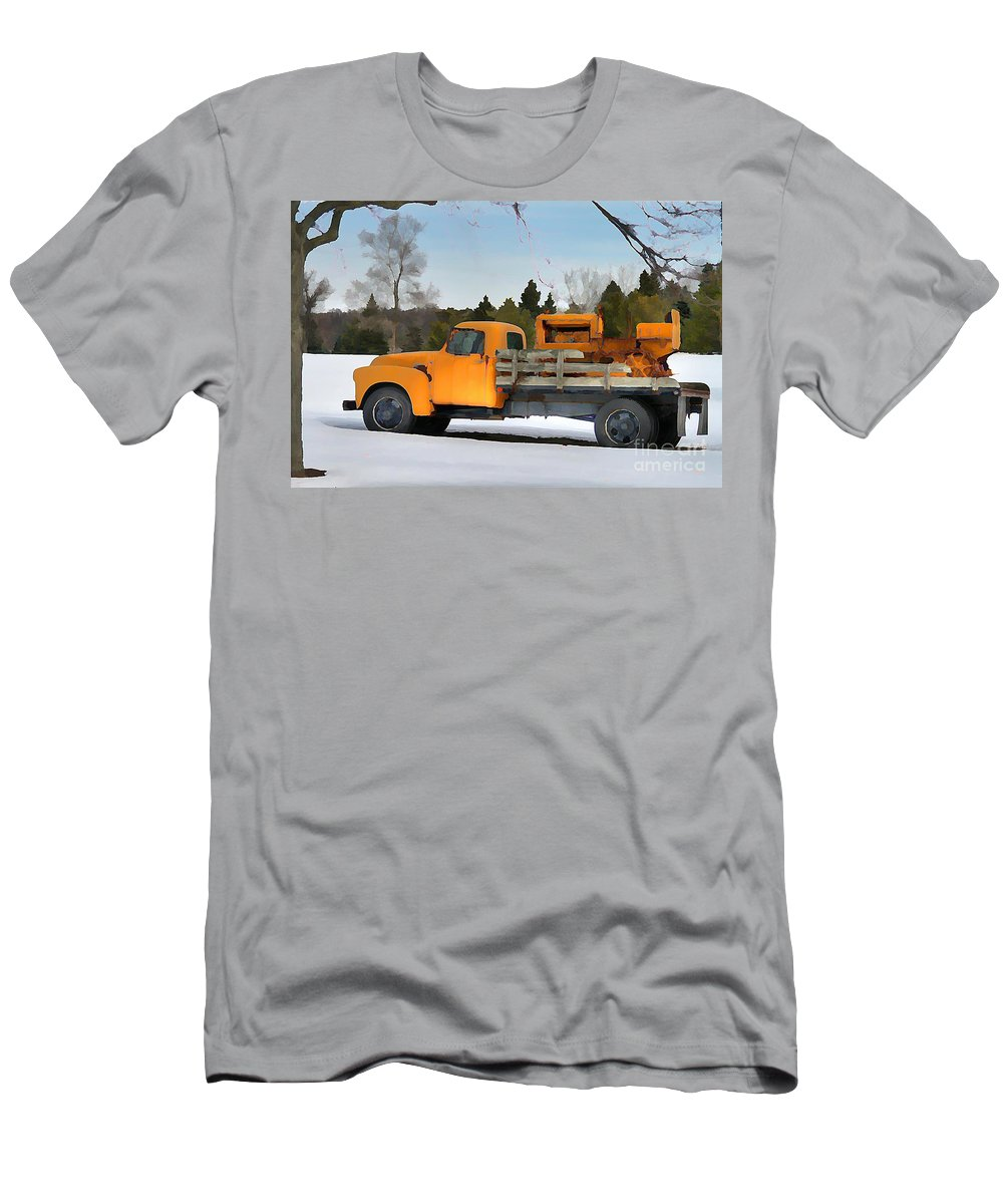 Farm Equipment Men's T-Shirt (Athletic Fit) featuring the photograph Left To Rust by Robert Pearson