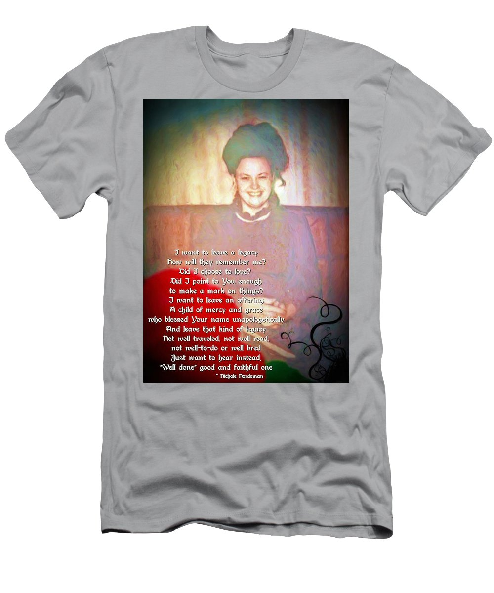 Jesus Men's T-Shirt (Athletic Fit) featuring the digital art Legacy by Michelle Greene Wheeler