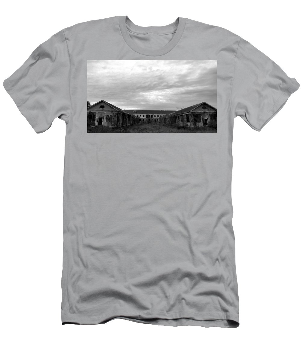 Letchworth Men's T-Shirt (Athletic Fit) featuring the photograph Letchworth Lonliness by Art Dingo