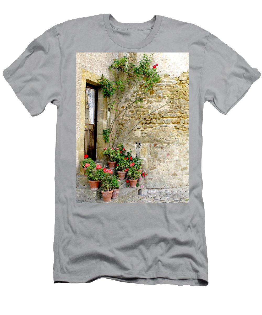 Porte De Champagne Men's T-Shirt (Athletic Fit) featuring the photograph Levroux France Entrance by Randi Kuhne