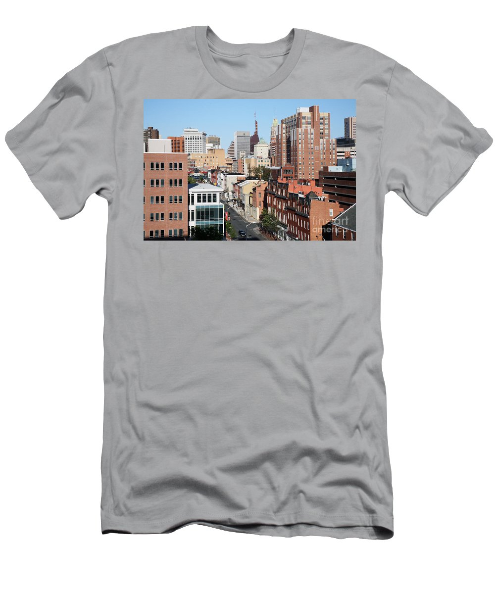 Baltimore Men's T-Shirt (Athletic Fit) featuring the photograph Lexington Street by Bill Cobb