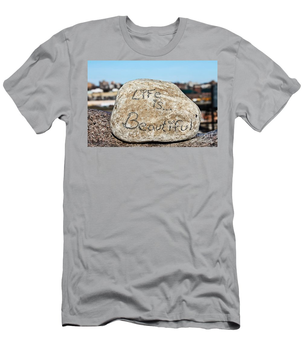 Life Men's T-Shirt (Athletic Fit) featuring the photograph Life Is Beautiful by Nikki Vig