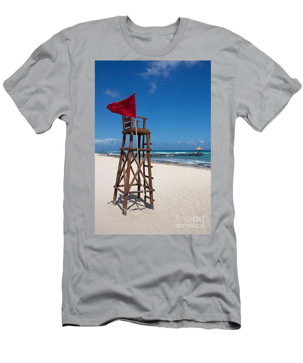 Abandoned Men's T-Shirt (Athletic Fit) featuring the photograph Lifeguard by Jannis Werner