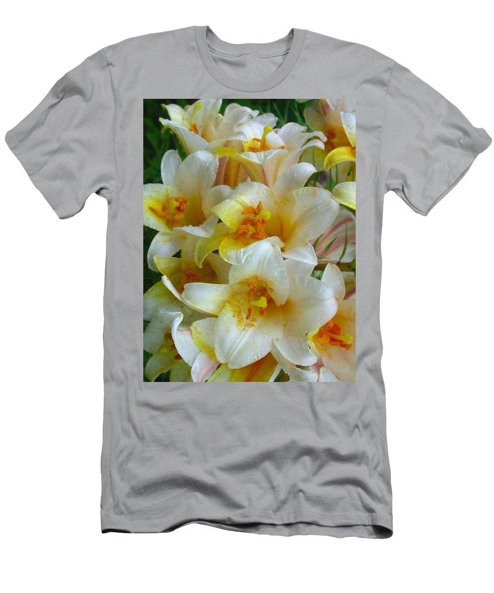 Lilium Regale Men's T-Shirt (Athletic Fit) featuring the photograph Lilium Regale by Cynthia Wallentine