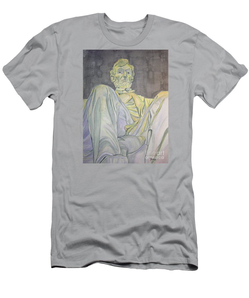 Presidents Men's T-Shirt (Athletic Fit) featuring the painting Lincoln by Regan J Smith