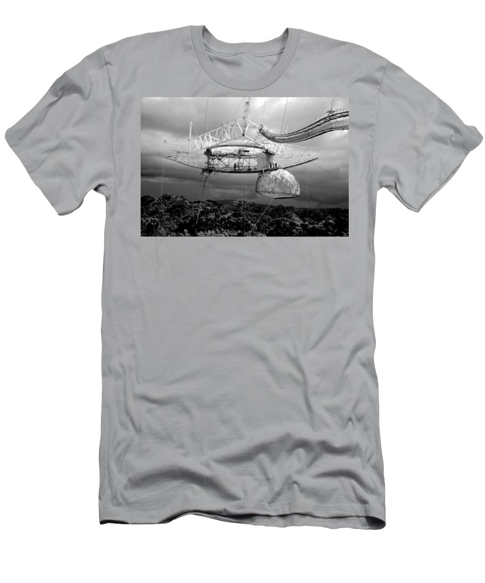 Arecibo Telescope Men's T-Shirt (Athletic Fit) featuring the photograph Listening For Life by Eric Tressler