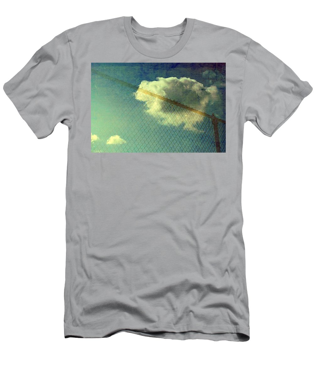 Cloud Photos Men's T-Shirt (Athletic Fit) featuring the photograph Blue Sky Cloud by Marysue Ryan