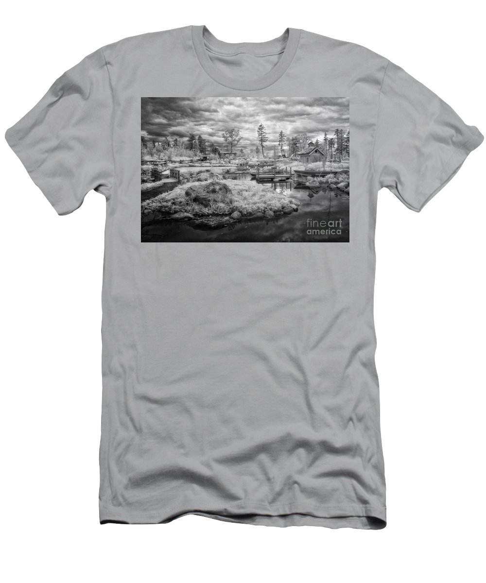 Ir Men's T-Shirt (Athletic Fit) featuring the photograph Little Island by Claudia Kuhn