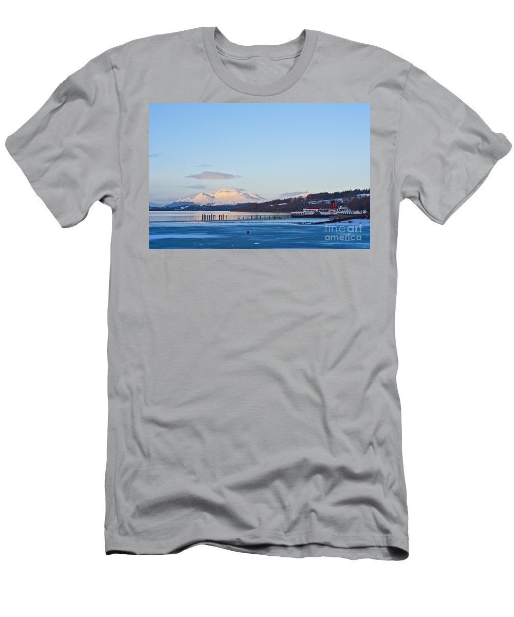 Paddle Men's T-Shirt (Athletic Fit) featuring the photograph Loch Lomond 02 by Antony McAulay