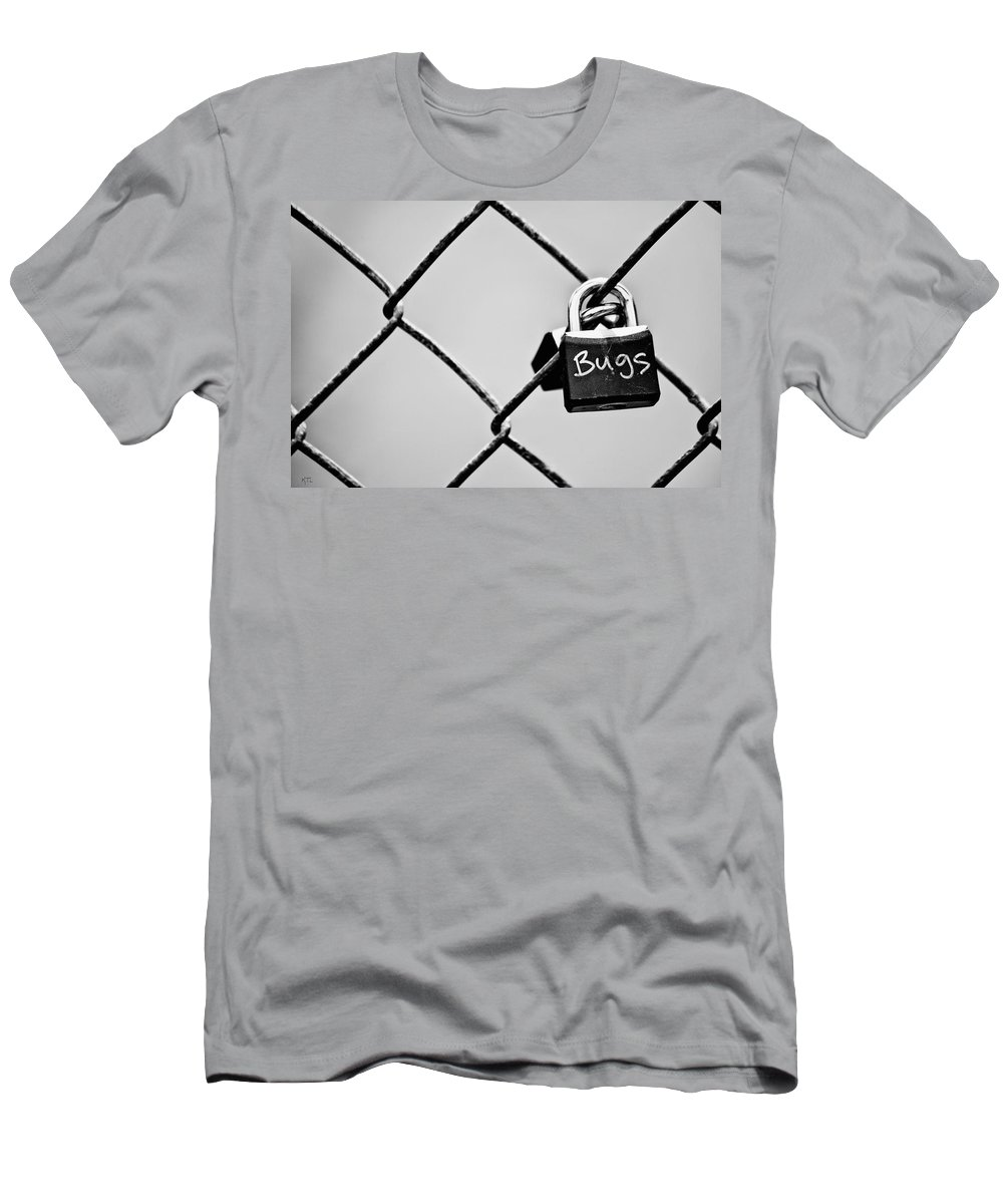 Lock Men's T-Shirt (Athletic Fit) featuring the photograph Locked Together by Karol Livote
