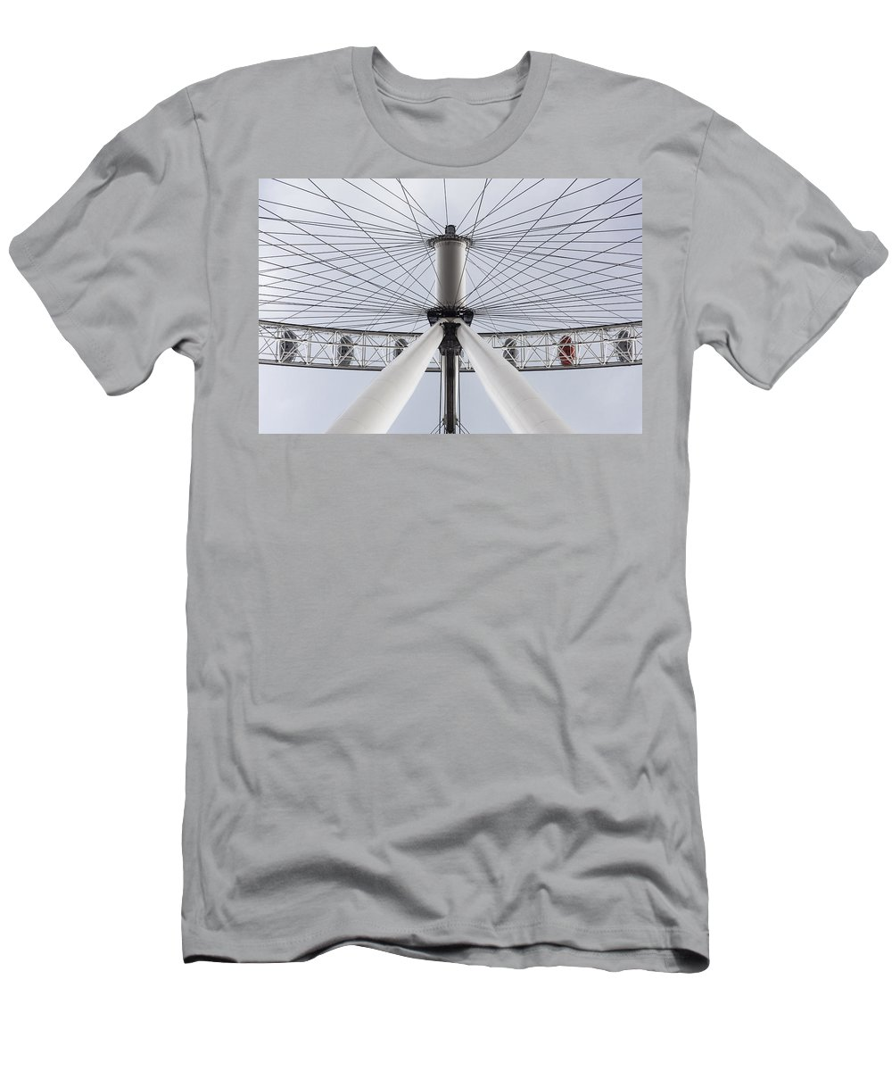 London Men's T-Shirt (Athletic Fit) featuring the photograph London Eye by Alfio Finocchiaro